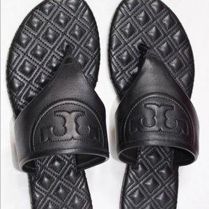 c7a93ff5f Tory Burch Shoes - NIB Tory Burch Fleming Black Flat Thong Sandal